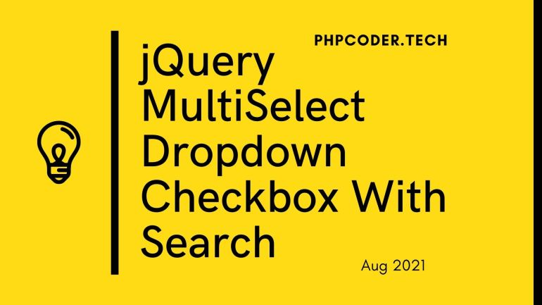 jQuery MultiSelect Dropdown Checkbox