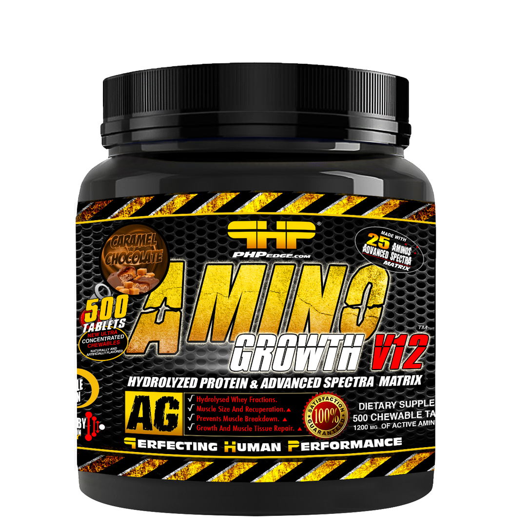 AMINO GROWTH V12 CARAMEL CHOCOLATE