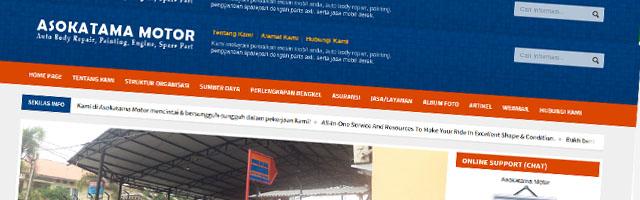 Web Company Profile Asokatama Motor dengan PHP dan MySQL