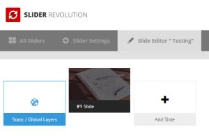 Slider Revolution first slide
