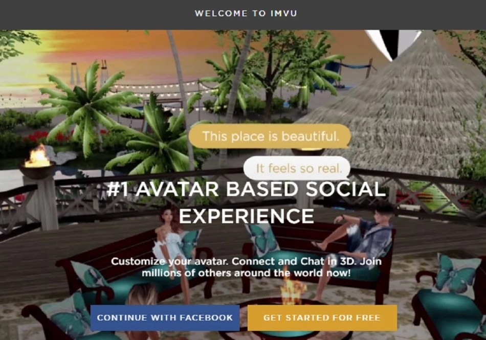 The IMVU with avatars without download