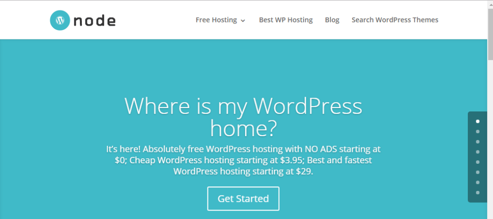 WPNode Free WordPress Hosting