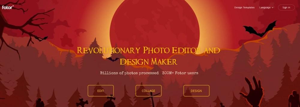 fotor free online photo editors