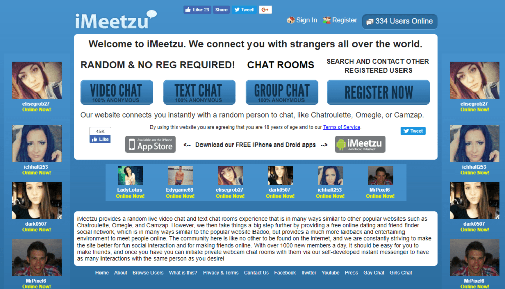 iMeetzu video chat rooms