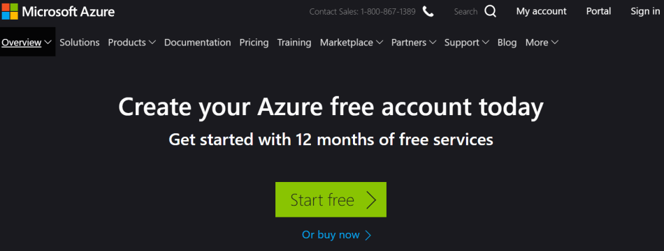 microsoft Azure free account