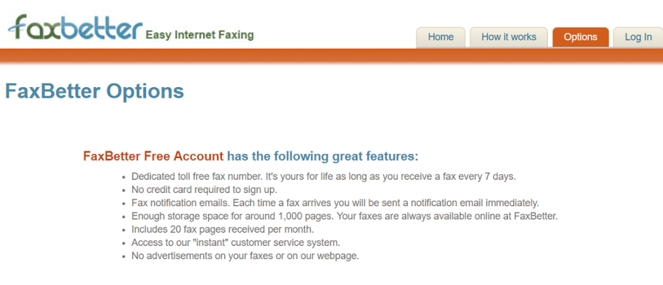 FaxBetter Free for free online fax