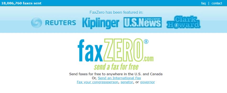 FaxZero for free online fax