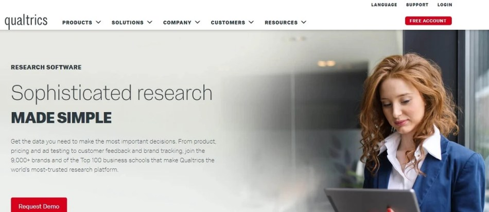 Qualtrics Research for Survey management & Data analysis