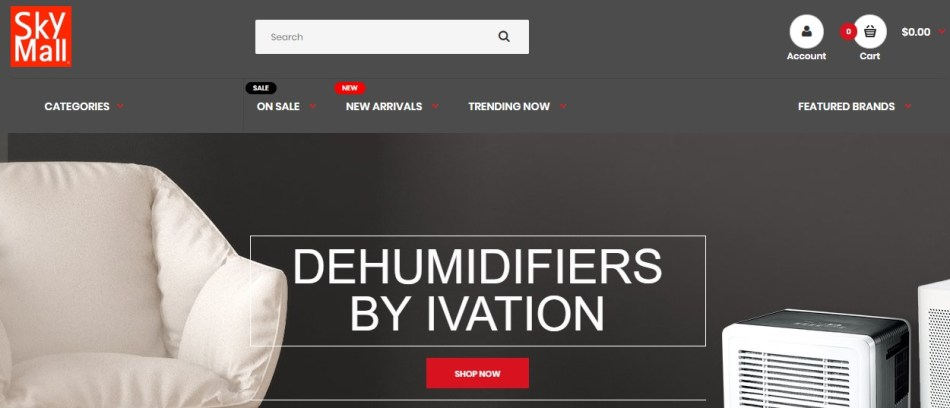 SkyMall Sites to Fingerhut