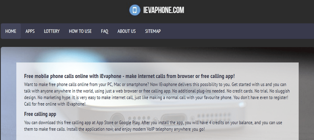 iEvaphon for free online call