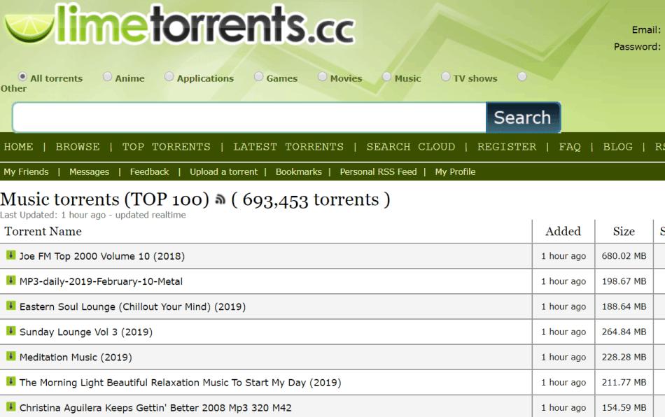 limetorrents for Music