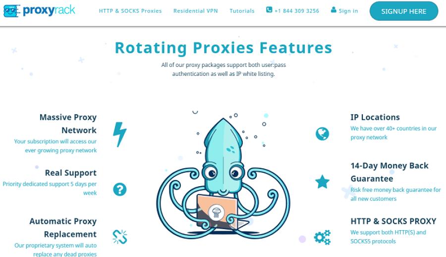 proxyrack rotating proxies