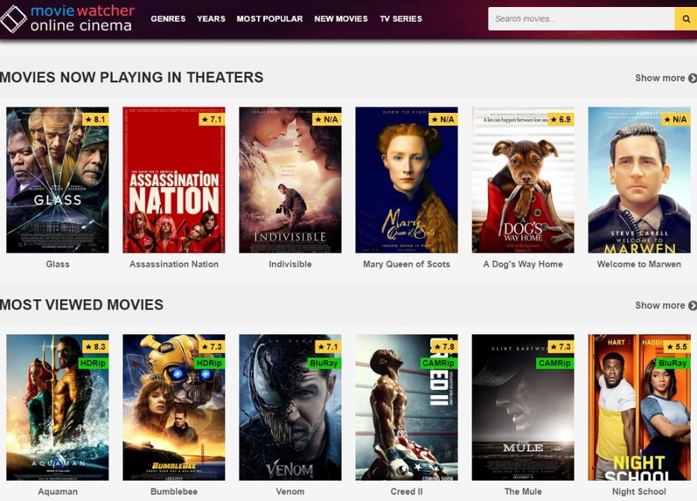 MovieWatcher.io