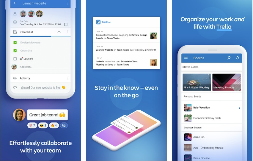Trello- Organize anything with anyone, anywhere