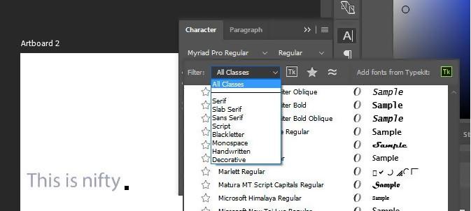 Font Tricks