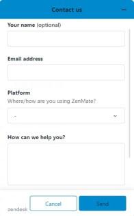 ZenMate customer support