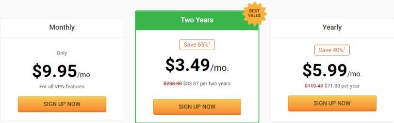 Private Internet Access vpn service price plan