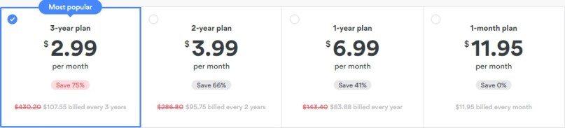 nordvpnservice price plan