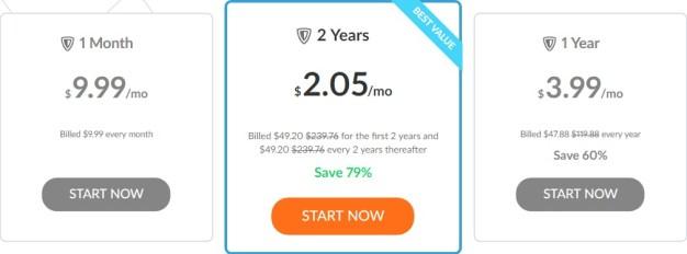 price plan of zenmate VPN