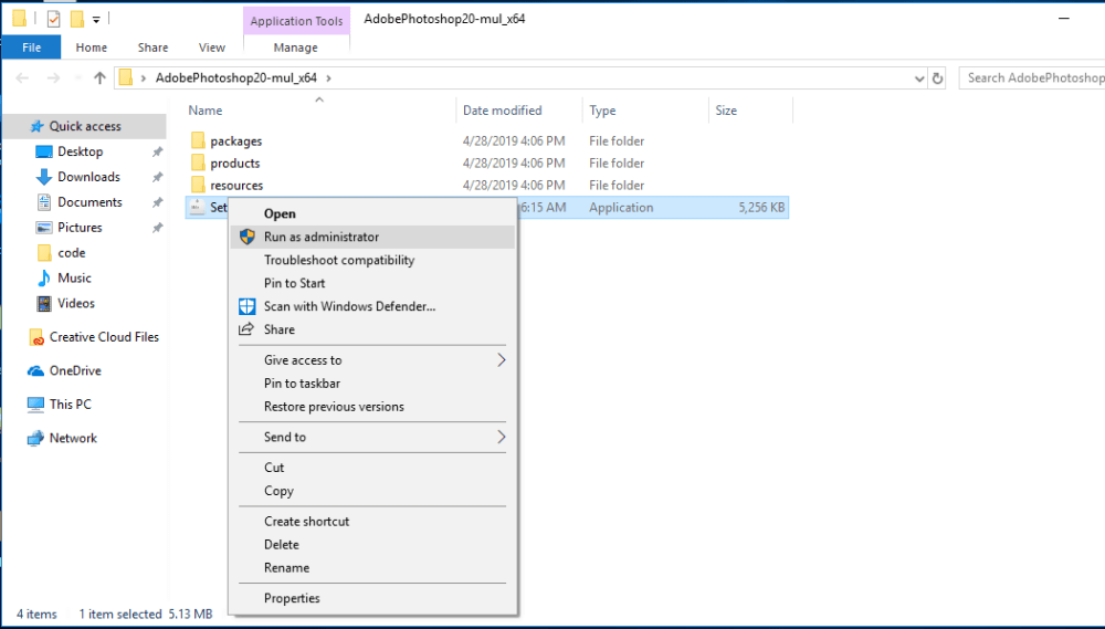 select setup admin