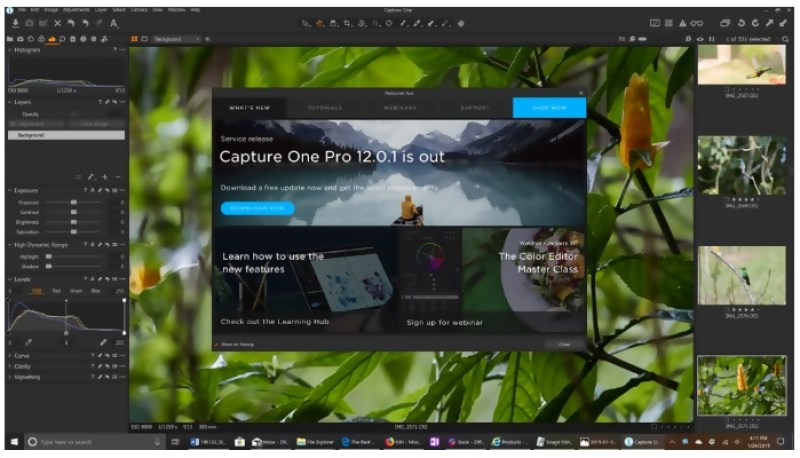 Capture One Pro interface