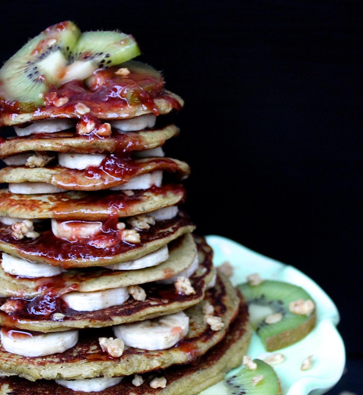 banana oat pumpkin pancakes phruitful dish