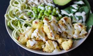 Anti-inflammatory Macro Bowl and Creamy Garlic Dressing (Vegan)
