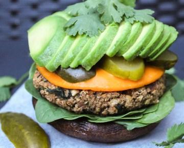 quinoa kale lentil burger