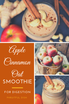 Apple Cinnamon Oat Smoothie for Digestion