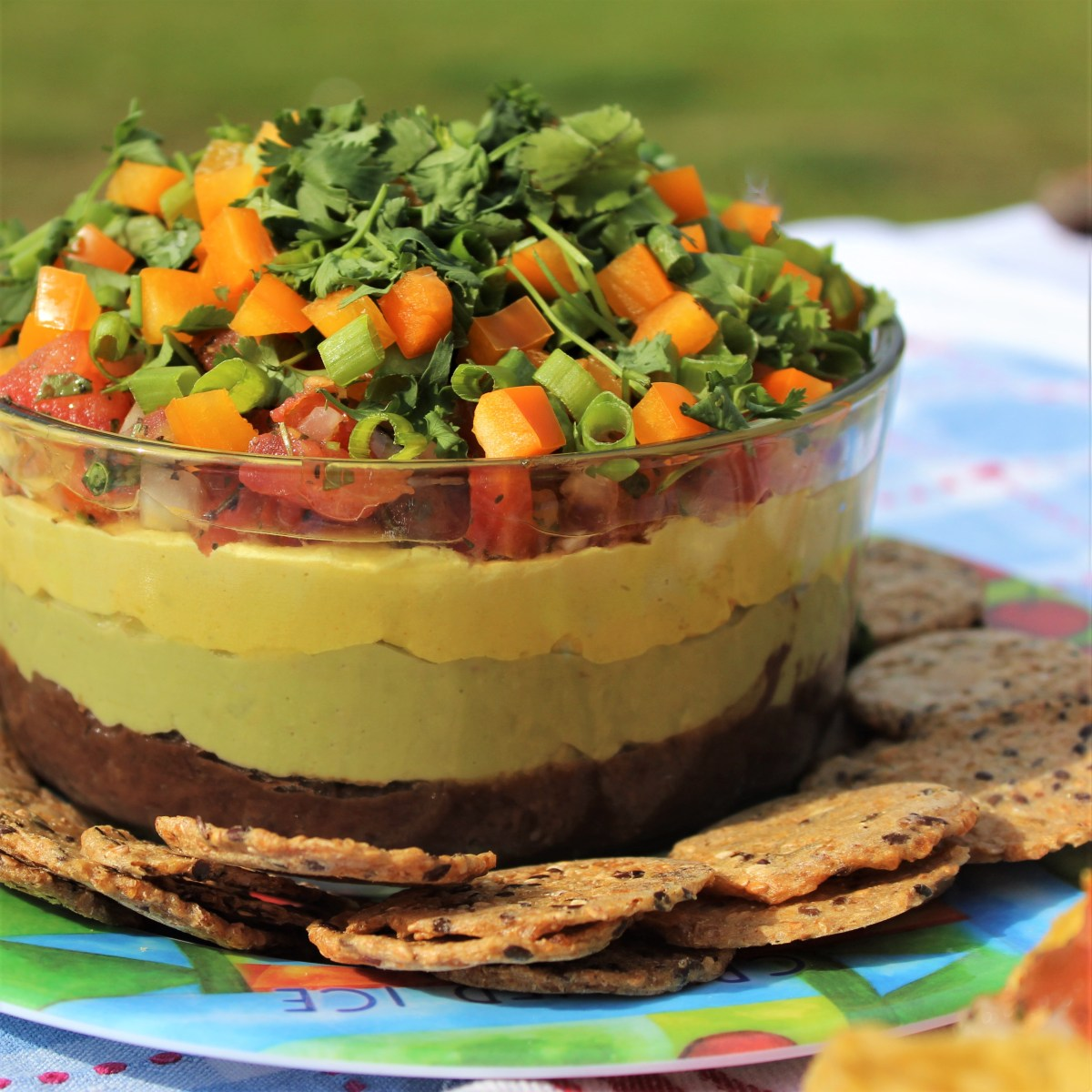 Healthy Vegan Seven-Layer Dip