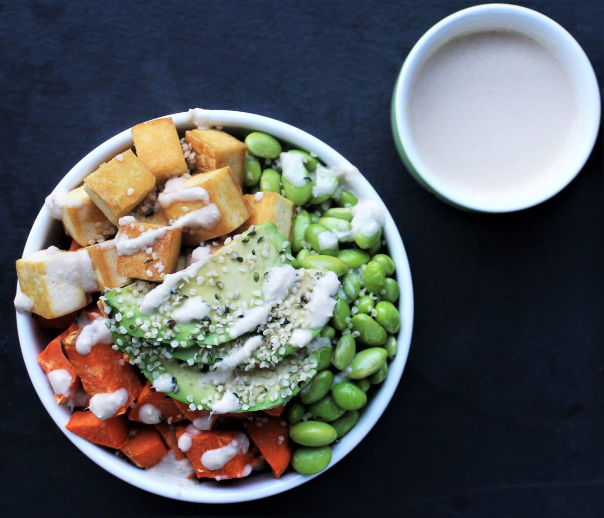 Tofu Protein Bowl with Anti-Inflammatory Dressing