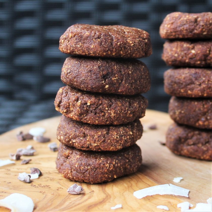 Chocolate Coconut Protein Cookies