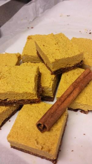 Pumpkin Spice Vegan Cheesecake
