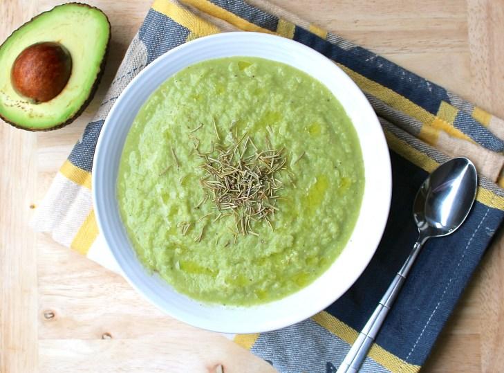 Cauliflower Kale Avocado Soup