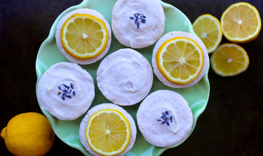 Lemon Lavender Raw Vegan Cheesecake 1