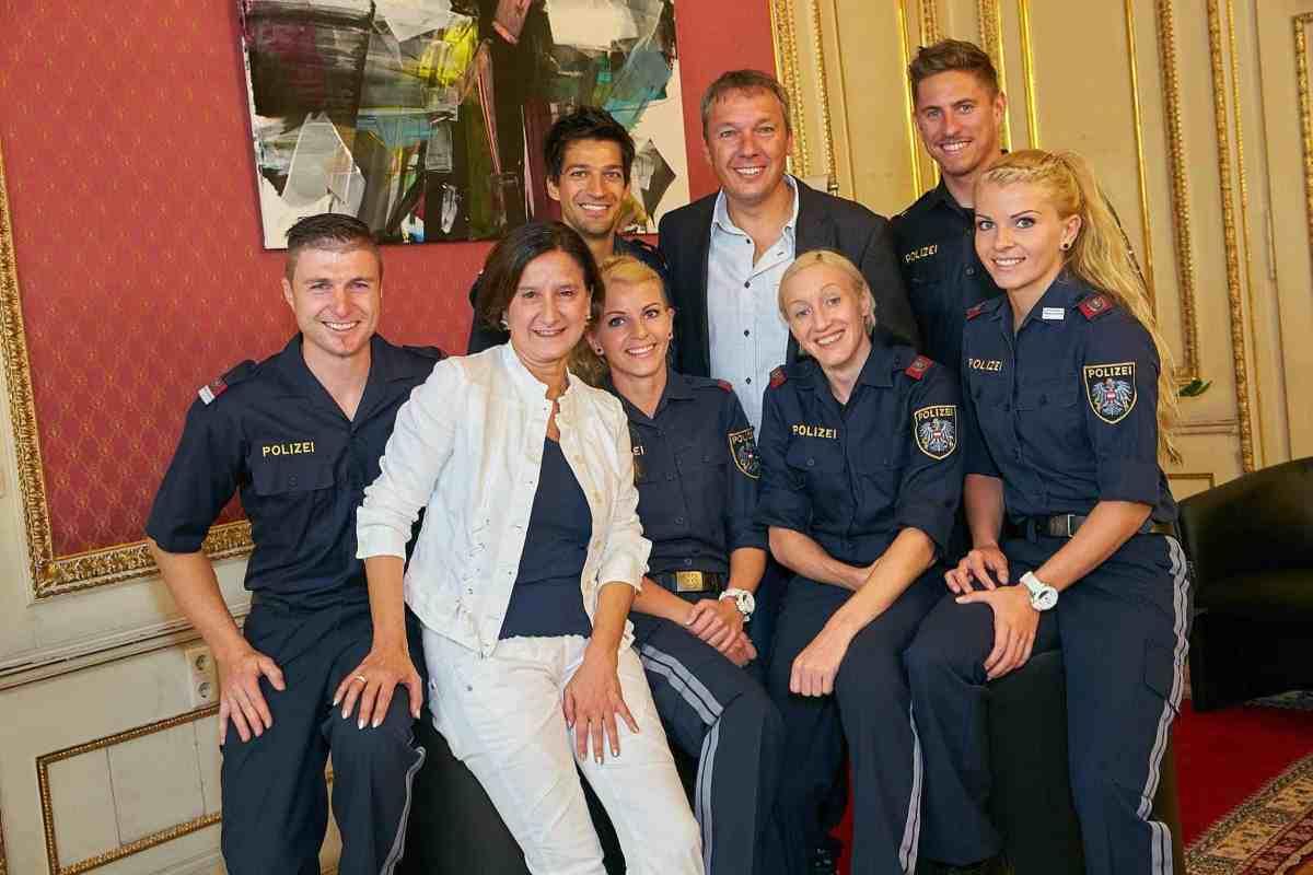 Copyright: BMI/Alexander TUMA, 20.09.2014 Wien, Johanna MIKL LEITNER mit Spitzensportler, Tag des Sportes