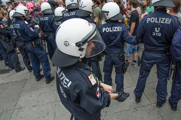 Policing ohne Schilder. Die Wiener Polizei greift zu mobileren und flexibleren Taktiken.