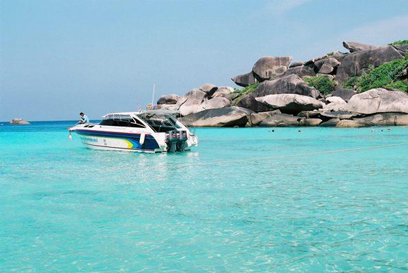 Motor yacht in Similan Bay