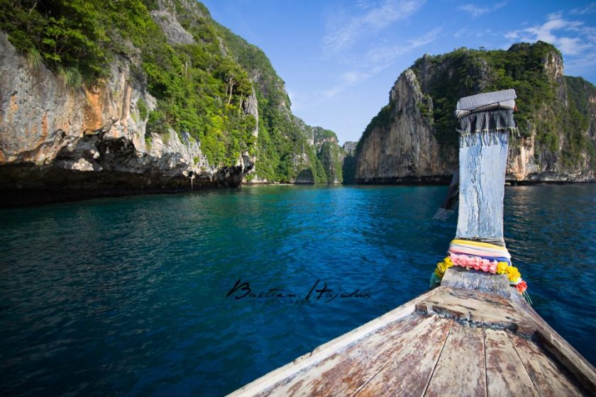 small boat from Phuket to Phi Phi Island