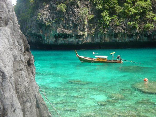 quiet sea cove on Koh Phi Phi