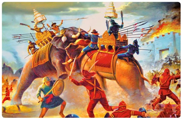 thai burmese elephant war