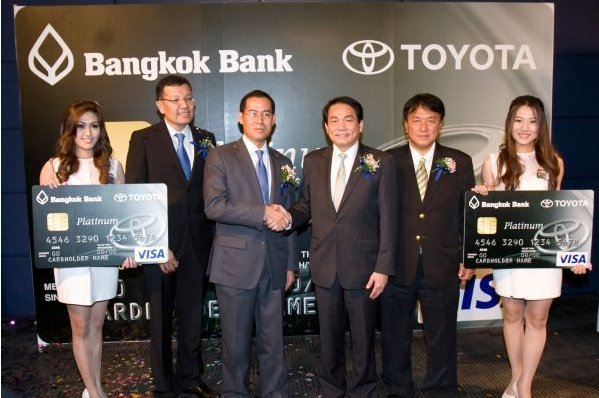 Bangkok bank and toyota launch bangkok bank visa platinum for Toyota motor credit customer service