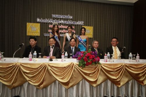 Press conference of Colorful Phuket Countdown 2012