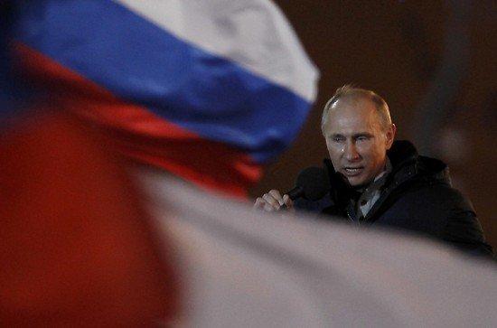 """Vladimir Putin: """"We have won! Glory to Russia!"""""""