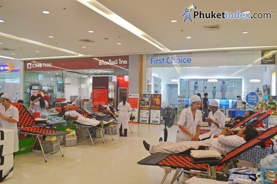 Central Festival Phuket hosts blood drive