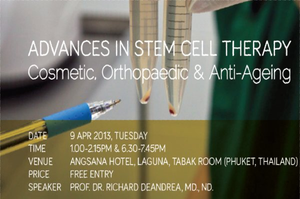 Phuket resort to host Stem Cell Therapy seminar