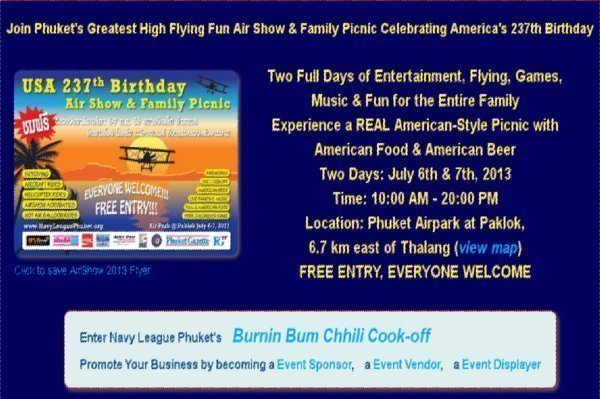 Phuket to Celebrate America's 237th Birthday