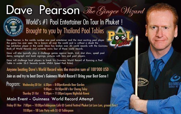 World's No 1 Pool Entertainer to Tour Phuket