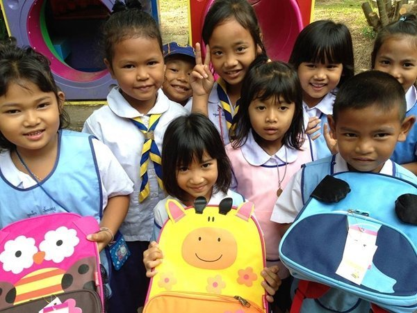 JW Marriott Phuket Donates School Bags to Local Schools