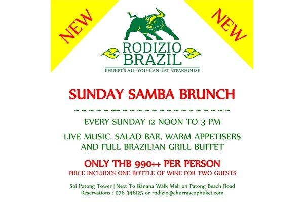 Phuket's Rodizio Brazil Launches Sunday Samba Brunch